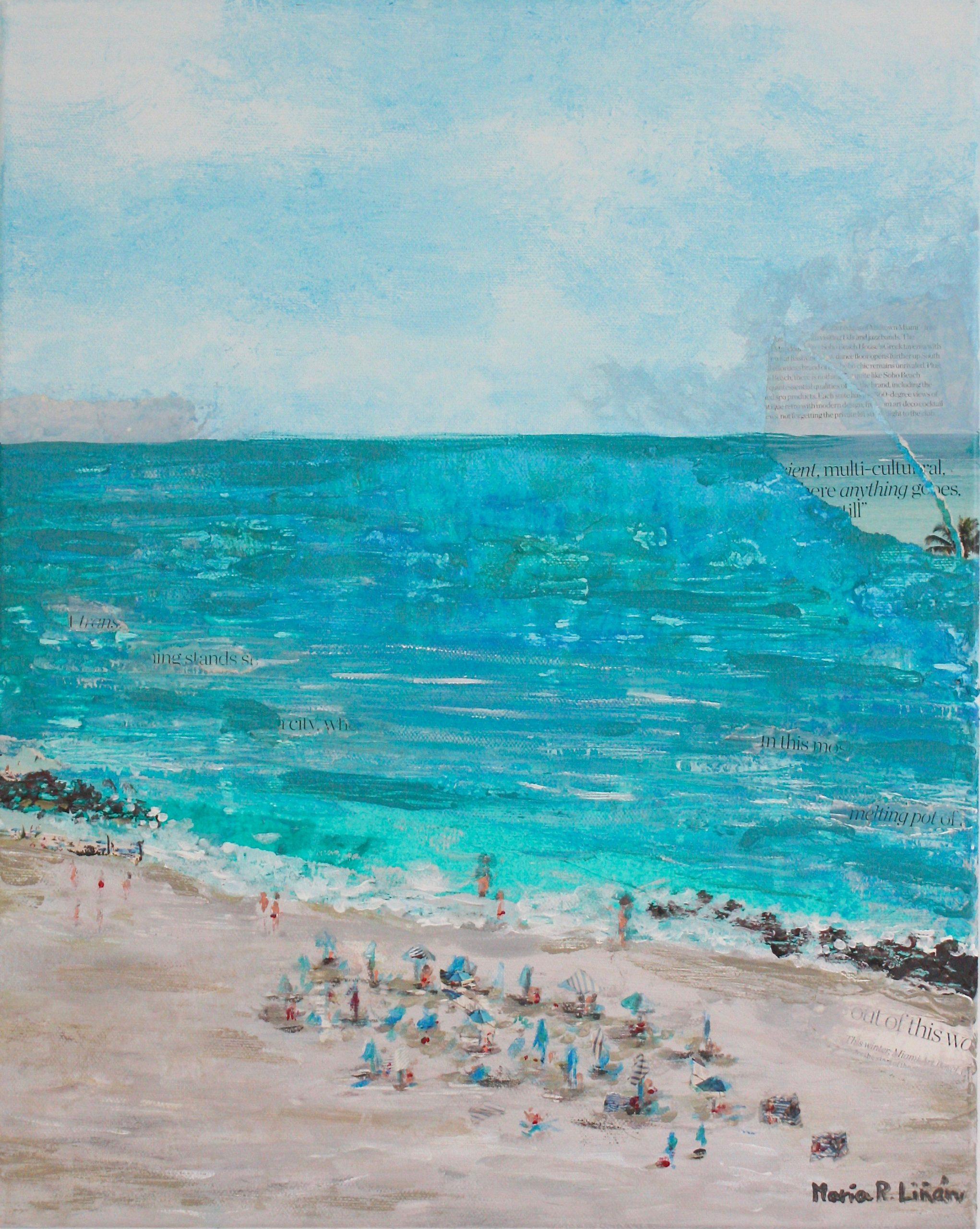 cuadro pintura playa Miami