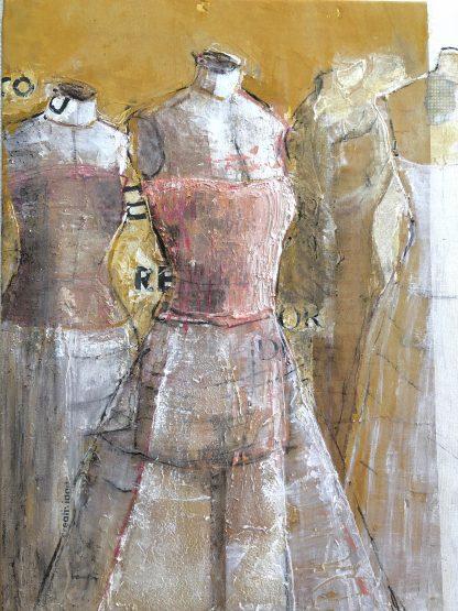 Pintura Original Moda Ocre